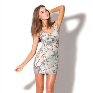Blackmilk Lord of the Rings Middle Earth Map Dress